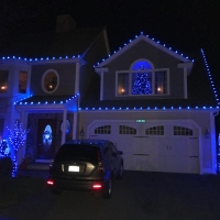 Tewksbury, MA Home With All Blue Lights