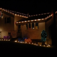 Tewksbury, MA Home with colored lights